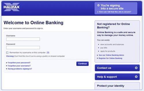 halifax online banking