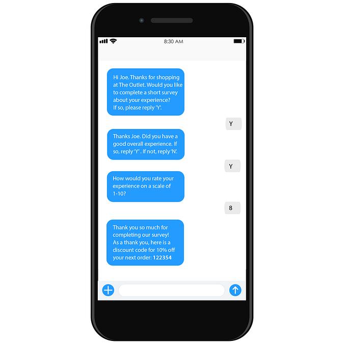 sms chatbot survey