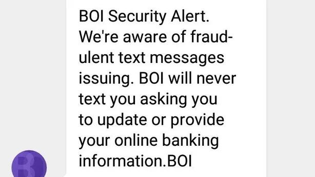 SMS campaign idea security alert