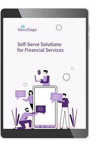 financial services self-service solutions voicesage ebook