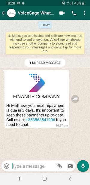 payment reminder whatsapp message