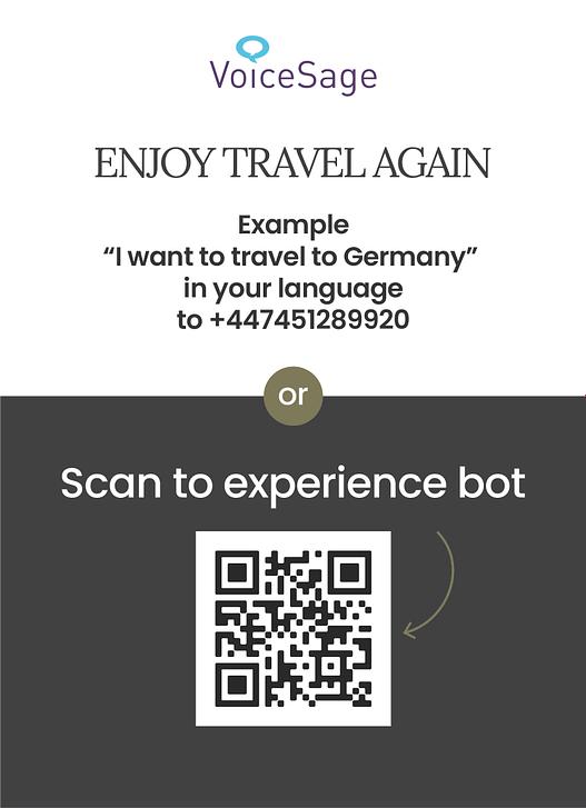 Travel Advisor Bot whatsapp qr code