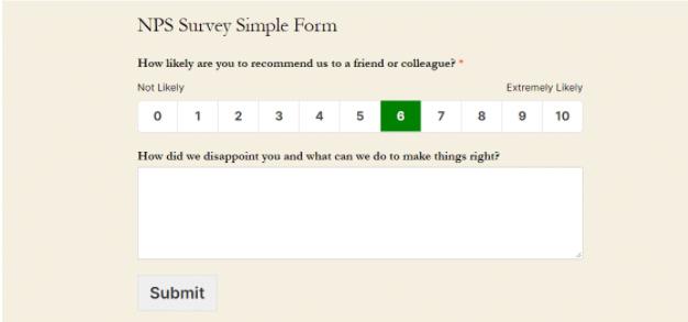 nps survey for customer feedback